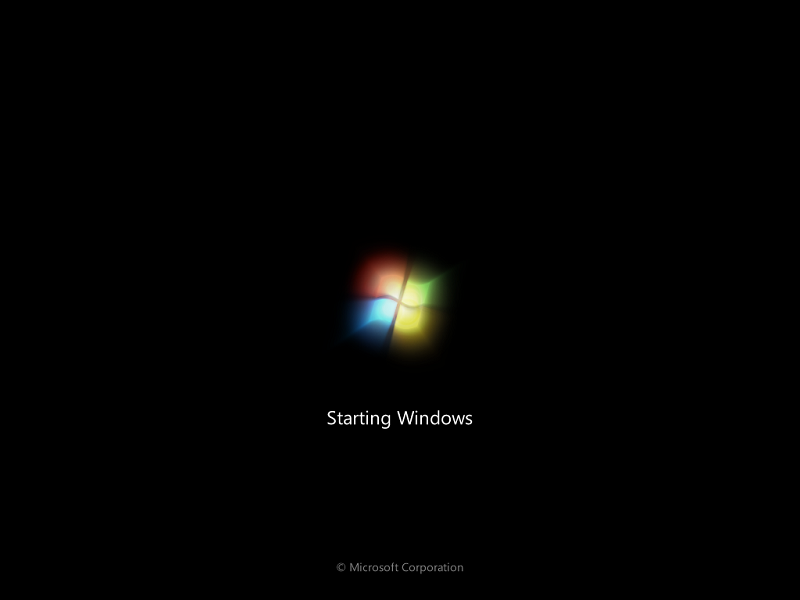 Windows 7 logo boot screen on Windows Server 2008 R2