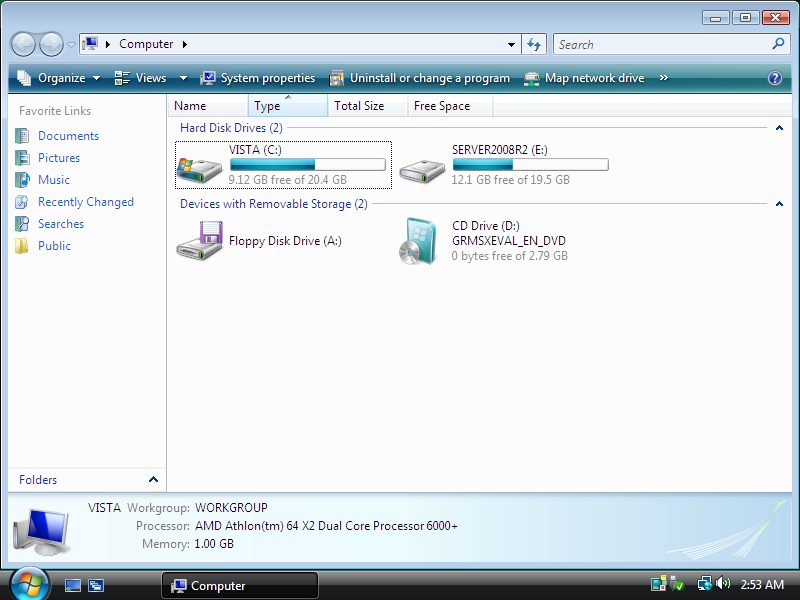 Windows Vista and Windows Server 2008 R2 partitions in Windows Vista