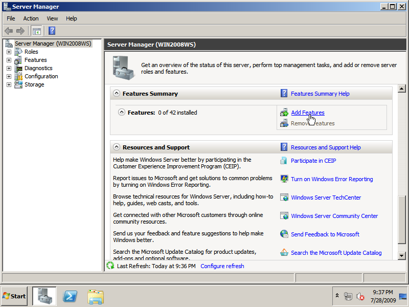 install windows media player on server 2008 r2