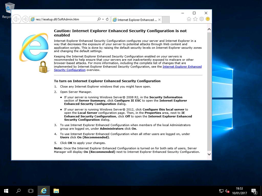 alter internet explorer windows 10