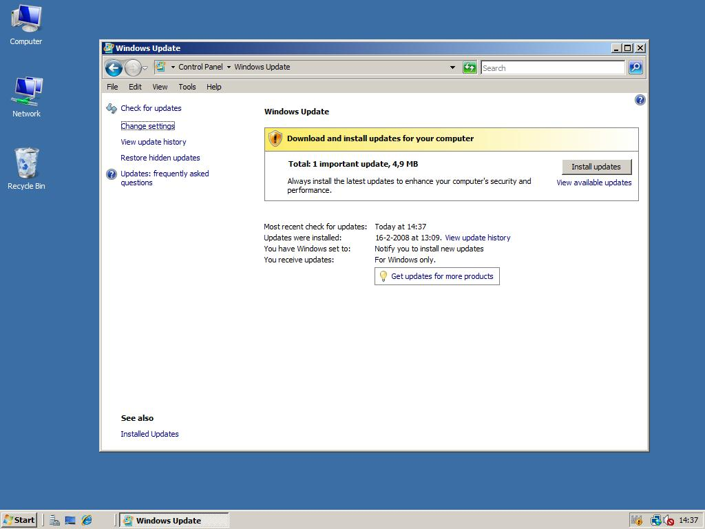 Drivers in Windows Server 2008 – Windows 2008 Workstation!